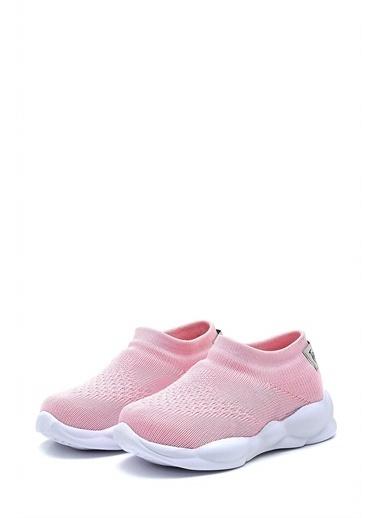 First Step Ultra Hafif Memory Foam İç Taban Çocuk Triko Spor Ayakkabı-M-1002 Pembe